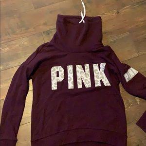 VS Pink Cowl neck hoodie